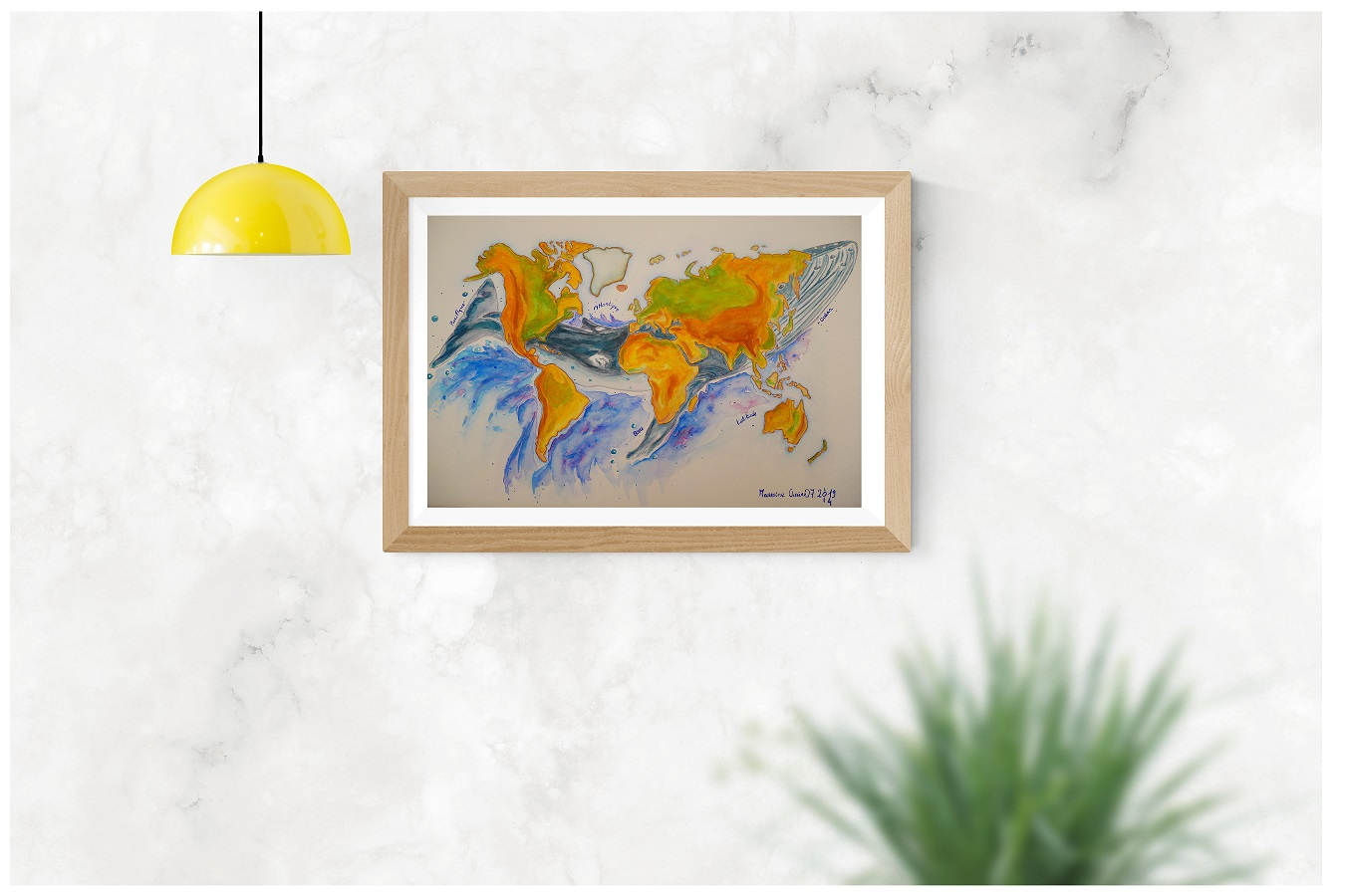 Illustration originale Carte du Monde © Grand'Air Illustration